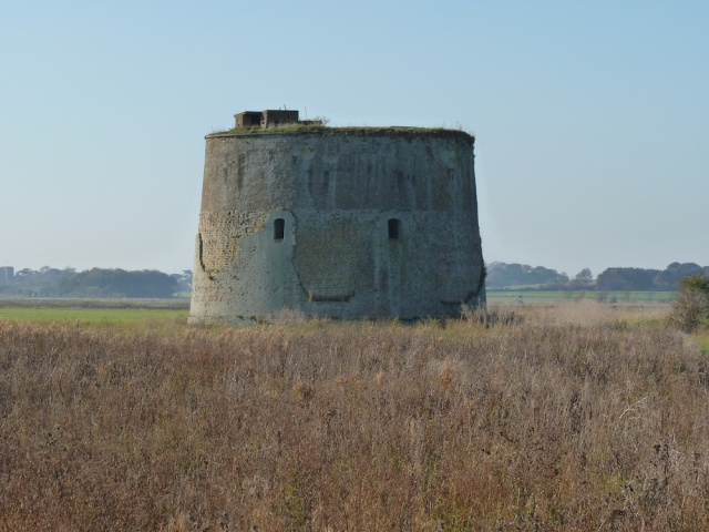 Martello Tower in Suffolk November 2012