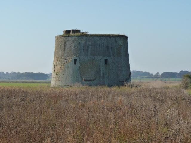 Martello Tower in Suffolk November 2012