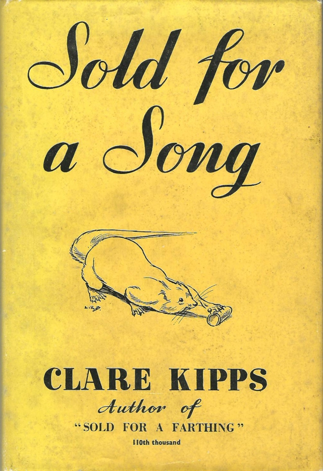 Sold For A Song A Study of an Arabian Mongoose by Clare Kipps Illustrated by L R Brightwell published by Frederick Muller Ltd London 1956
