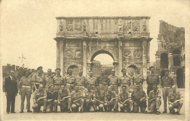 Constatine's Trumphal Arch and Coleseum Italy World War II