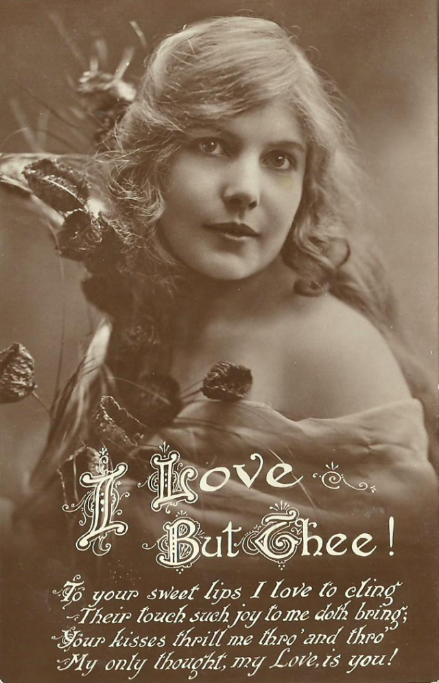 I Love But Thee! Printed in Great Britian (unmarked postcard)