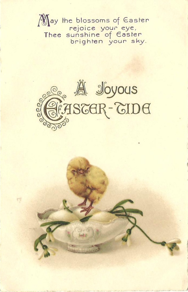 Easter Postcard addressed to Marjorie Sims never sent