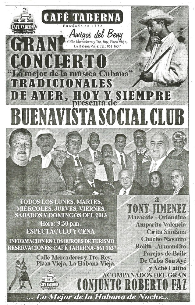 Flyer picked up in a restaurant in Havana Feb 2013