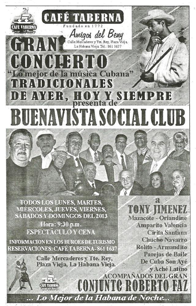 Flyer picked up in a restaurant in Havana Feb 2013