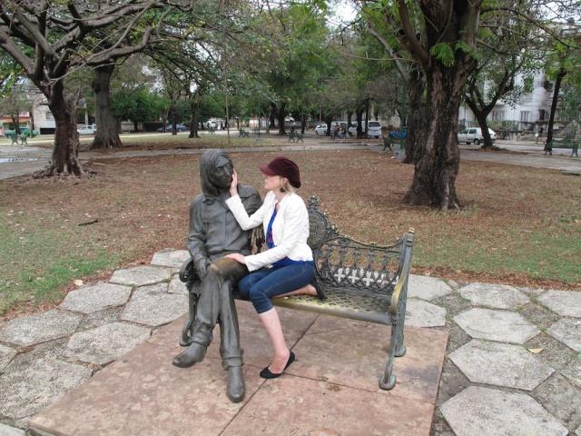 Lettie in Lennon Park, Havana, Cuba