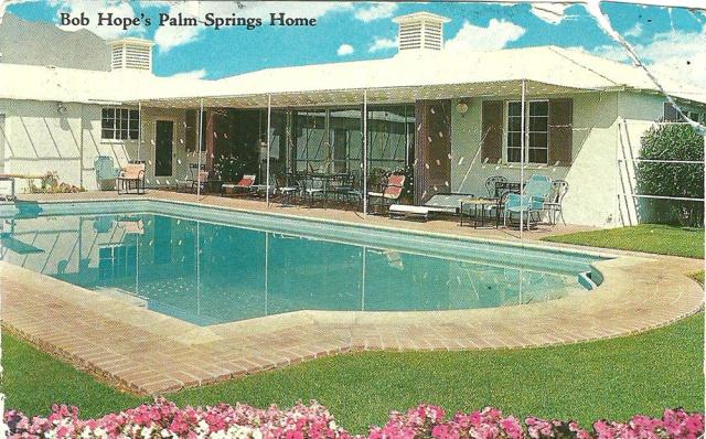 Palm Springs California Bob Hope's beautiful Palm Springs California home and swimming pool