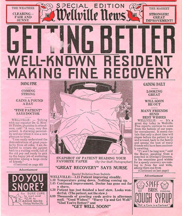 Special Edition Wellville News (odd ephemera made in the USA)