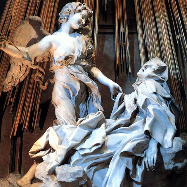 'Ecstasy of Saint Theresa'  (1647-52) in Cornaro Chapel, Rome by Giovanni Lorenzo Bernini