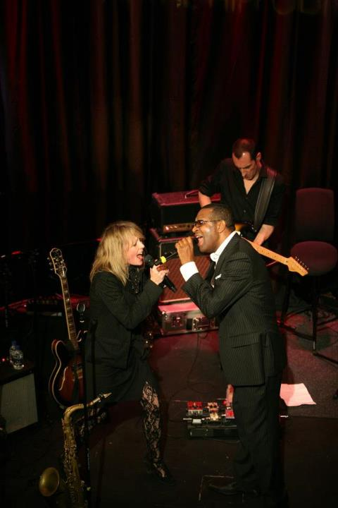 Lettie performing with Reuben Richards at the London Hippodrome 19 April 2013