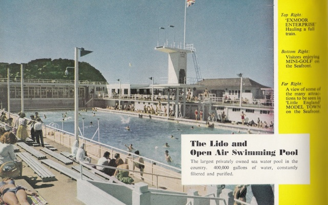 The Lido from Minehead Holiday Guide 29th Edition 1960s