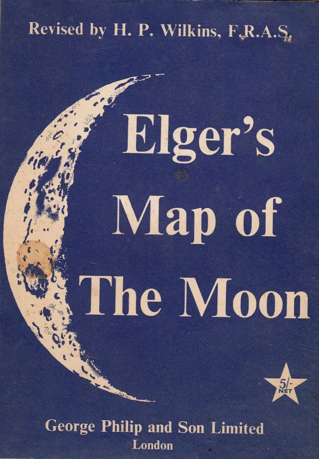 Elger's Map of the Moon 1964 (before we landed on it) published by George Philip and Son Limited London