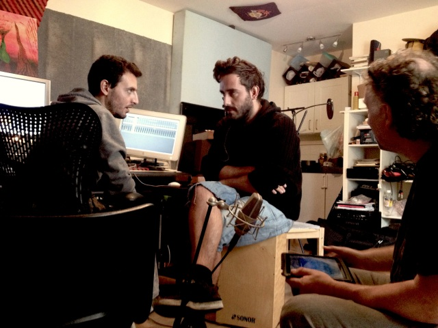 Mt Vernon with Alex and George at Dada Studios, Brick Lane