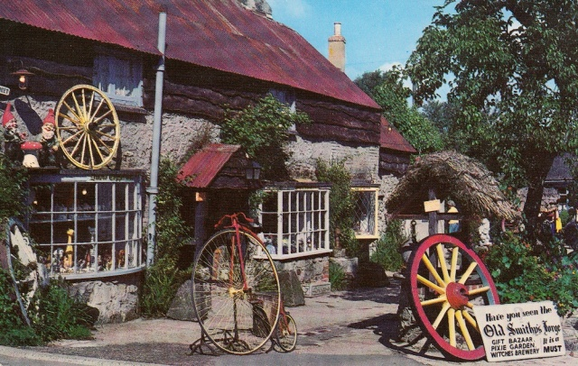 The Old Smithy Godshill I o W The Photographic Greeting Card Company Londo