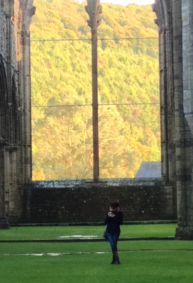Lettie at Tintern Abbey photograph by a friend November 2013