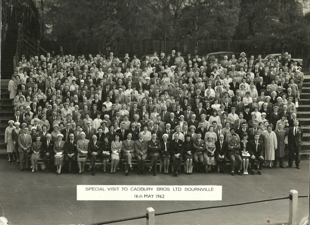 Special Visit to Cadbury Bros Ltd Bournville 16th May 1962