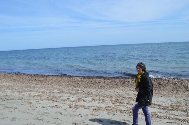 Denise Arnold on the beach