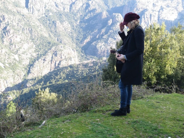 Lettie in the mountains of Corsica by Denise Arnold
