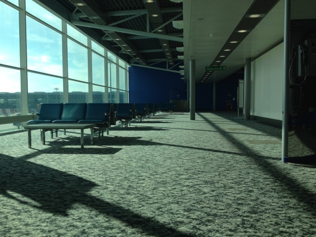 Stansted Airport departure gate Friday 27th June 2014