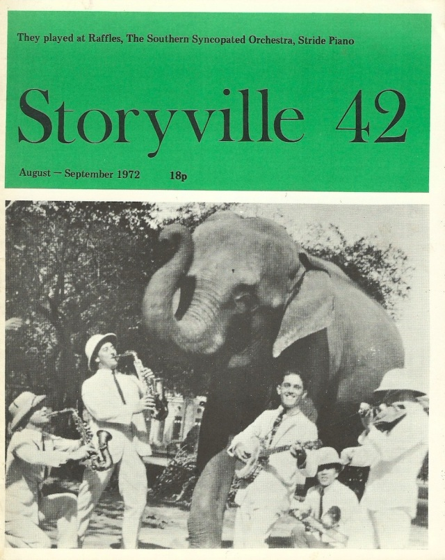Storyville 42 August-September 1972 printed and published bi-monthly by Storyville Publications and Co., 63, Orford Road London E17 9NJ