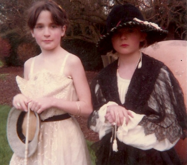 Petra and Lettie in fancy dress