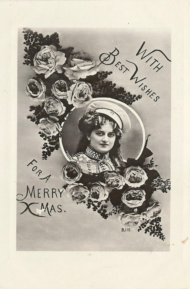 The Shenley Real Photo Dear Edith just ending you a card hoping you will have a good time this Christmas
