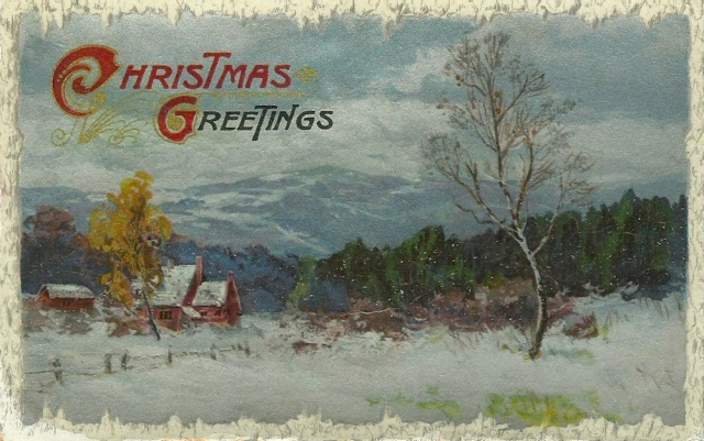 Xmas 1911 We expected a familiar foot step this evening but the wet night must have chaced it away so we will hope for a bring dawning of a happy Christmas morning for you all...