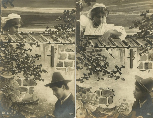 When first among the jessamine he saw her looking on The Rotopaot Postcard Postkarte Carte Postale 1907