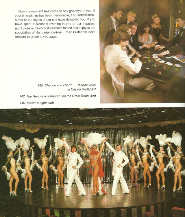 Casino Budapest and Maxim's Night Club from Budapest published by Szalontai Publishing House 1980s