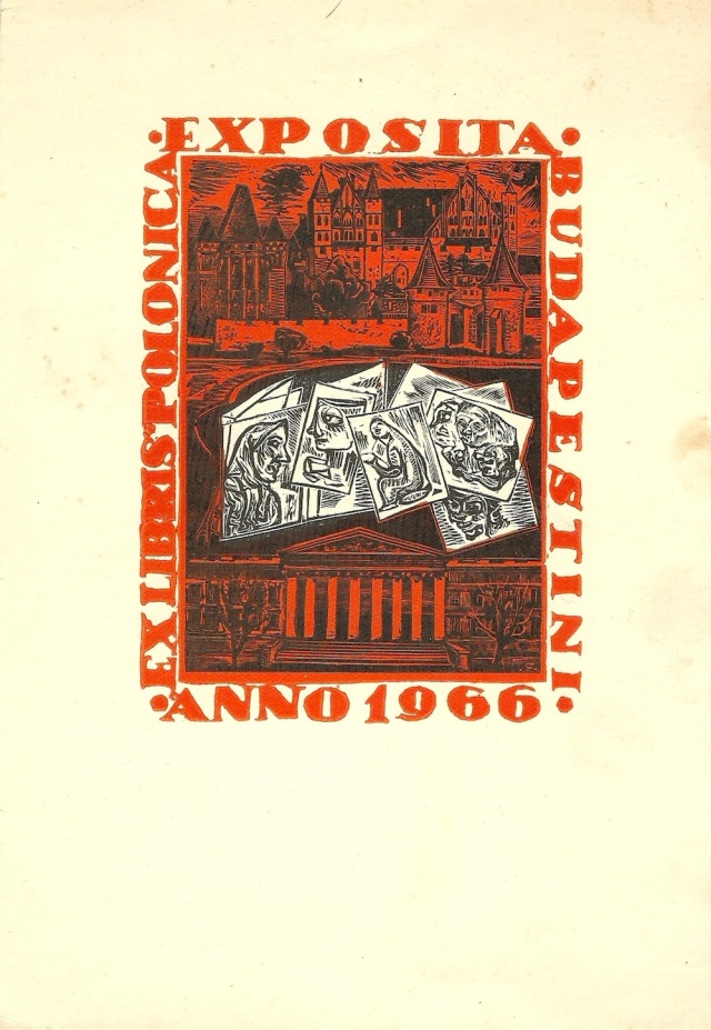 Exposita Budapestini Anno 1966 Ex Libris Polonica found in flea market Pest February 2015