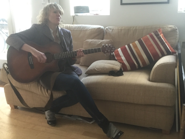 Lettie In Raj's Flat April 2015