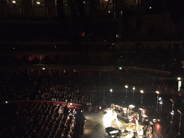 Bob Dylan last night at the Albert Hall 25 October 2015