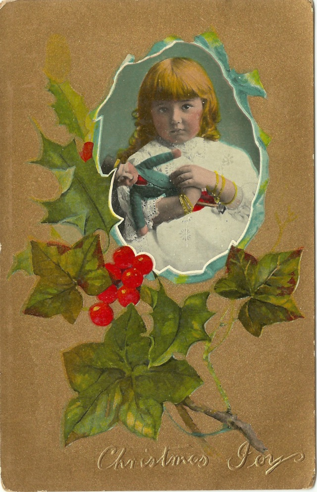Christmas Joy unmarked Souvenir Post Card