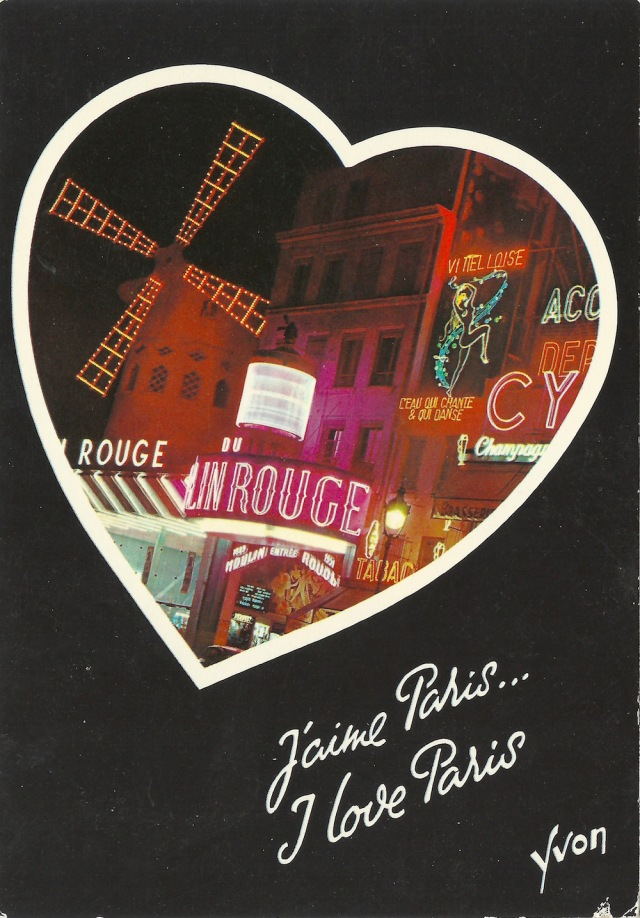 J'Aime Paris I Love Paris Le Moulin Rouge 36 75 0433 Editions d'art Yvon 30 Av Jean-Jaures-94-Arcuell by S.P.A.D.E.M Made in Italy