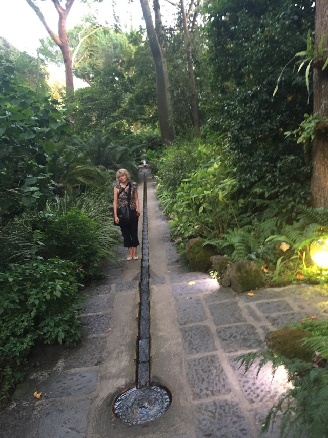 Lettie in Lady Walton's Mortella Gardens Ischia September 2015