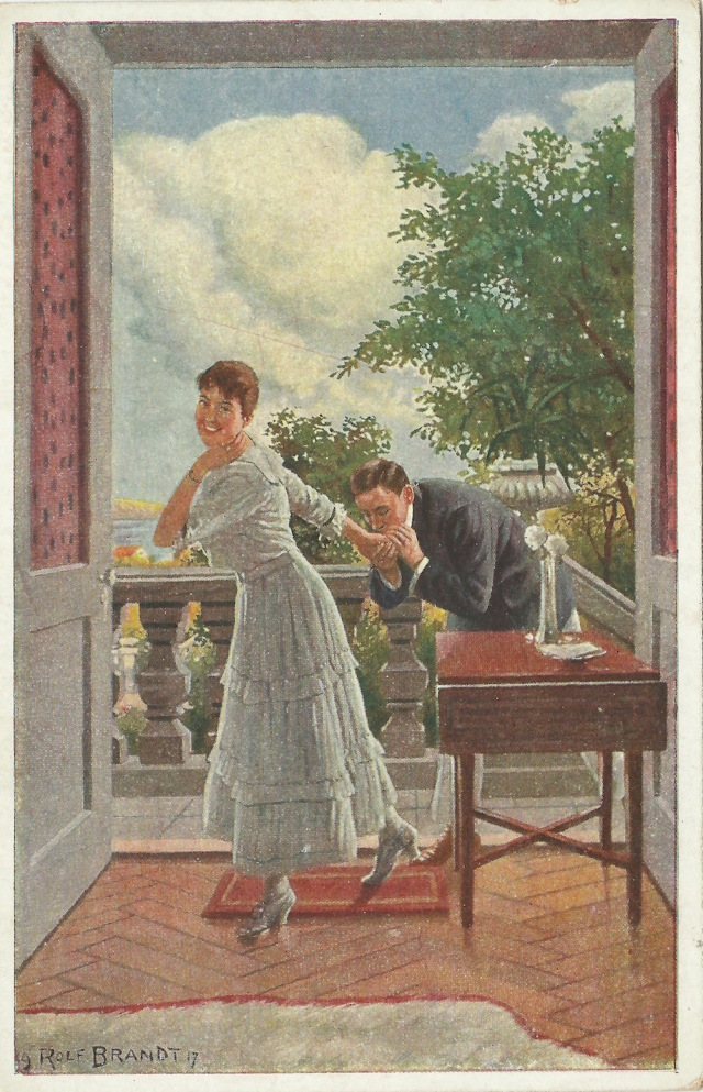 Galerie Munchner Meister Rolf Brandt Verliebt Nr 443 unmarked postcard