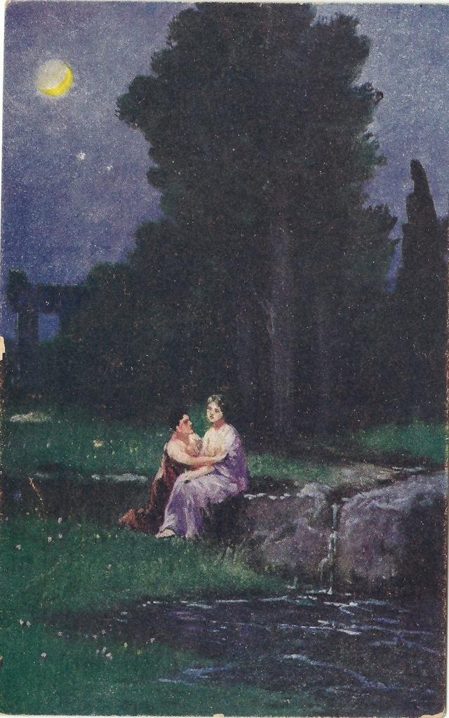 U Zrodla milosci Unmarked postcard Frist S.M.P Kr.