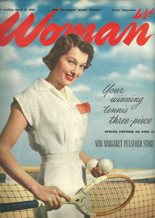 Cover of Woman The National Home Weekly Week ending April 14 1951 published by Woman High Holborn London WC1 Telephone Temple Bar 2468 (100 lines)
