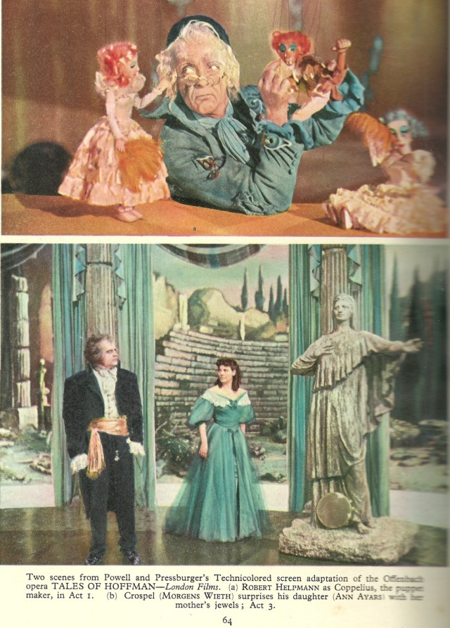 From Film Review by F.Maurice Speed 1951-2 Two sceneces from Tales of Hoffman - London films Powell and Pressburger