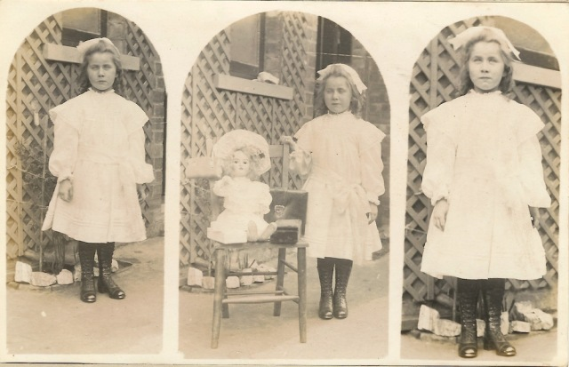 On back is written Frances Jones of Gainsborough Lincs Possibly on 6th Birthday
