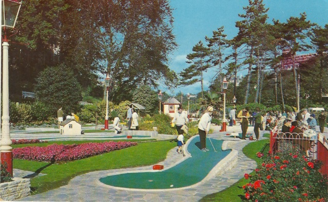 Miniature Golf in Central Gardens Bournemouth The Photographic Greeting Card Co 1968