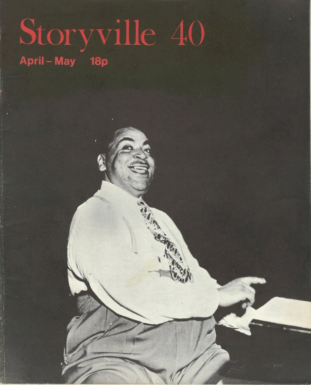 Storyville 40 April May 1972 cover photo Fats Waller is courtesy of Roy Cooke