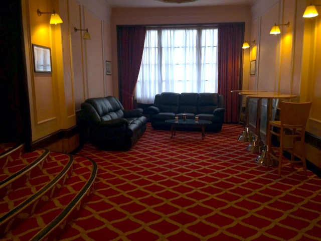 Side room off the lobby of the Adelphi Hotel