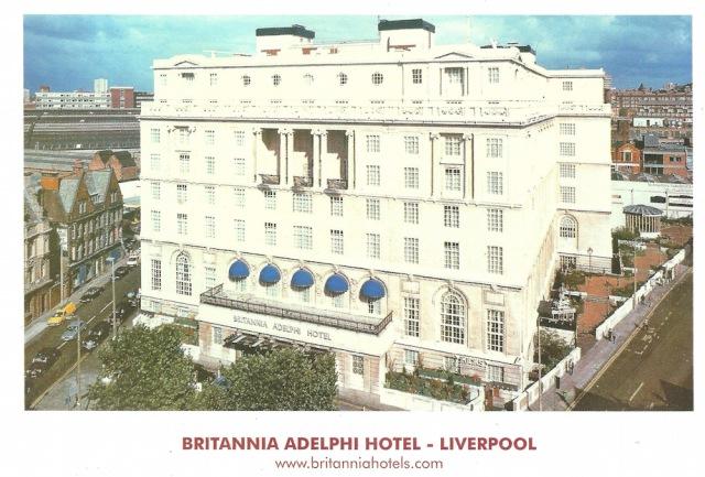 Britannia Adelphi Hotel Lobby Postcard