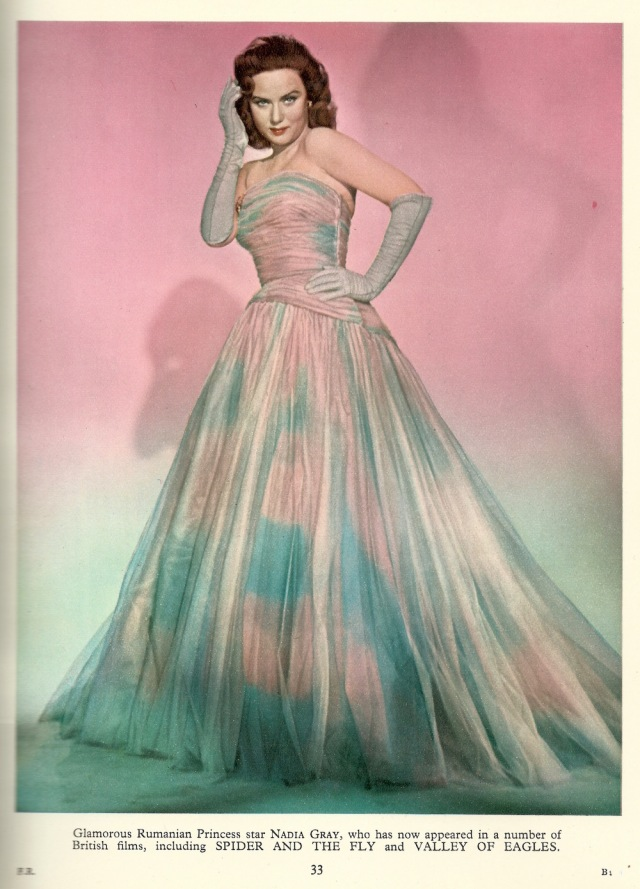 Nadia Gray from Film Review F Maurice Speed 1952.1953