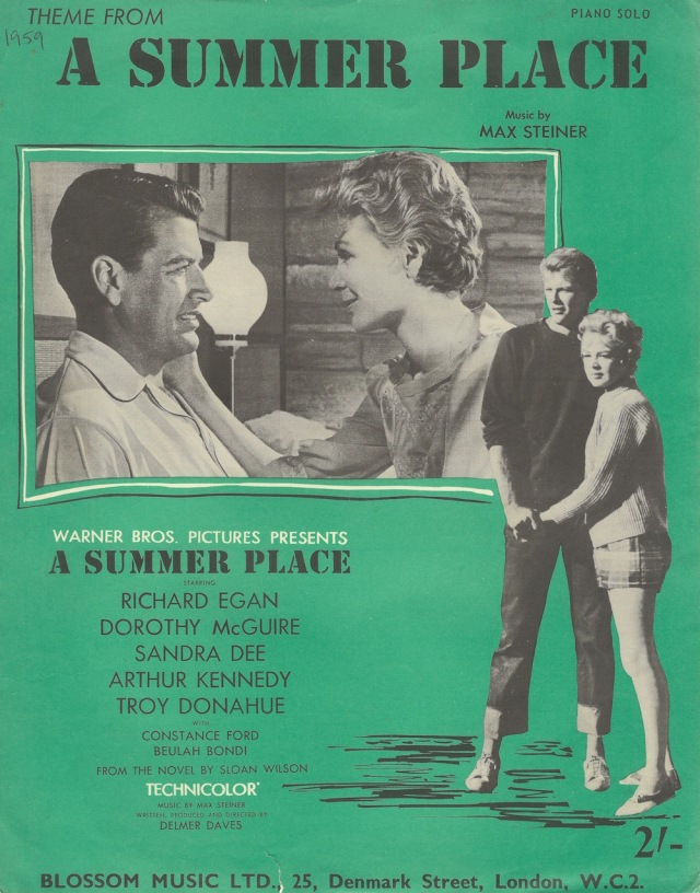 Theme from A Summer Place Music by Max Steiner 1959