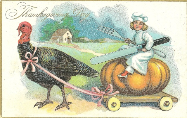 Unmarked Thanksgiving Day postcard