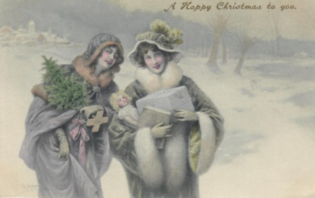 Gilbert & Ashly With best wishes Florce and Nigel Xmas 1908