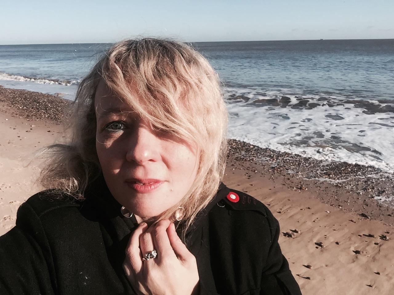 Lettie on Sizewell Beach