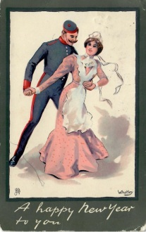 Wishing you a bright new year if its not to soon from Bert to Miss B Rabbitt Woburn House Bucks Dec 29 1903 Somerset