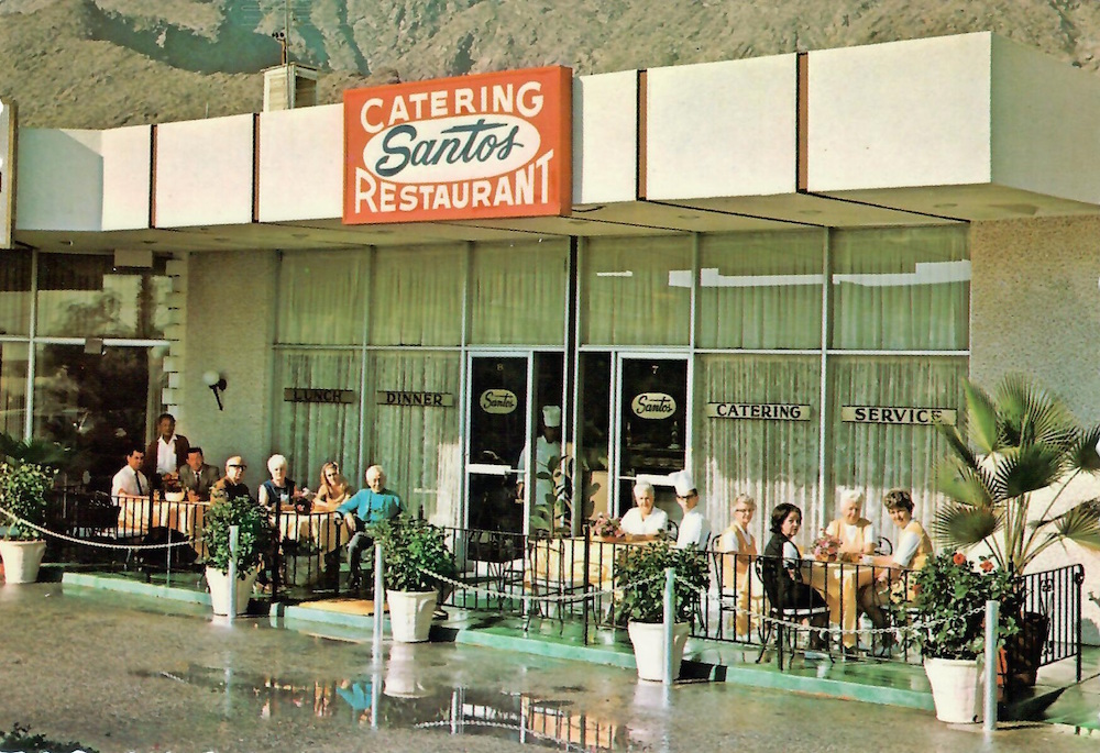 Greetings from Santos Catering and Restaurant published by Milton W. Jones